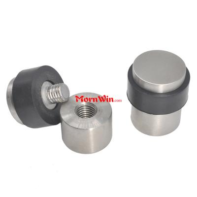 Stainless steel solid core cylindrical floor decorative universal door stop
