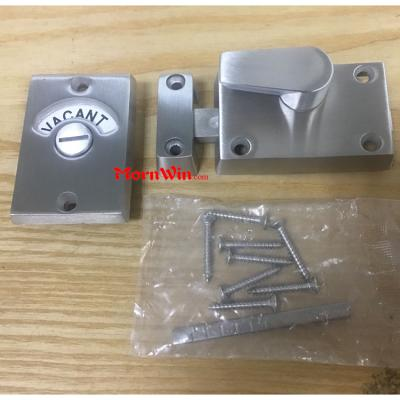 Toilet Cubicle Partition Stainless Steel Indication Door Lock