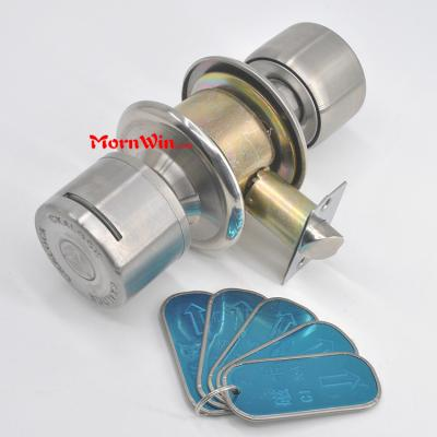 Top quality hotel room cylindrical magnetic card stainless steel shift knob lock