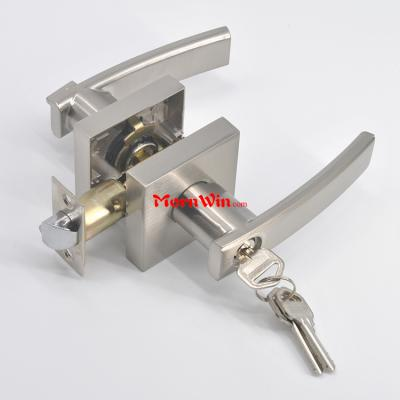 US market solid zinc alloy Grade 3 handle lever entry door tubular lock