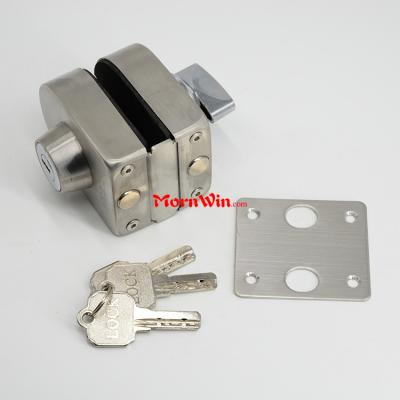 double side open commercial sliding glass round door lock