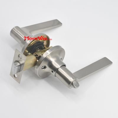 high quality cylindrical tubular zamak zinc alloy lever handle door lock
