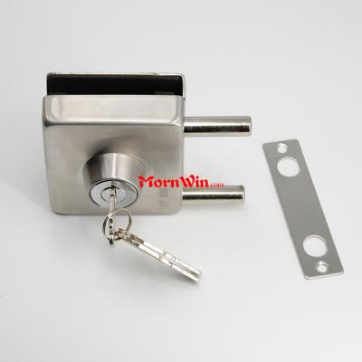 security stainless steel commercial glass door lock with keys