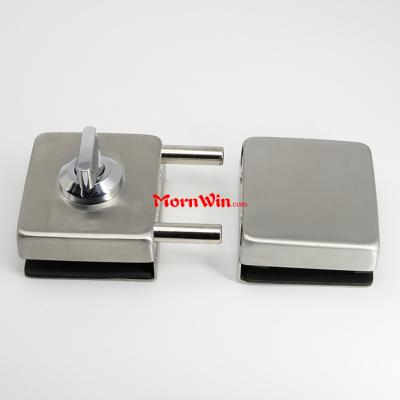 square glass door lock for glass door one side key one side knob