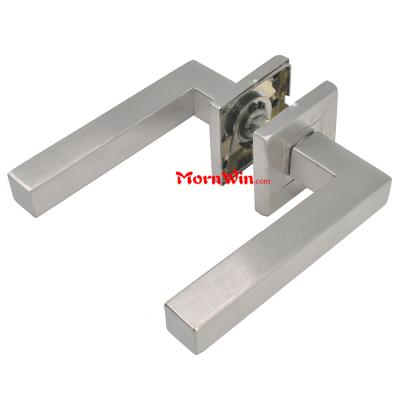square rosette tube stainless steel lever door handle