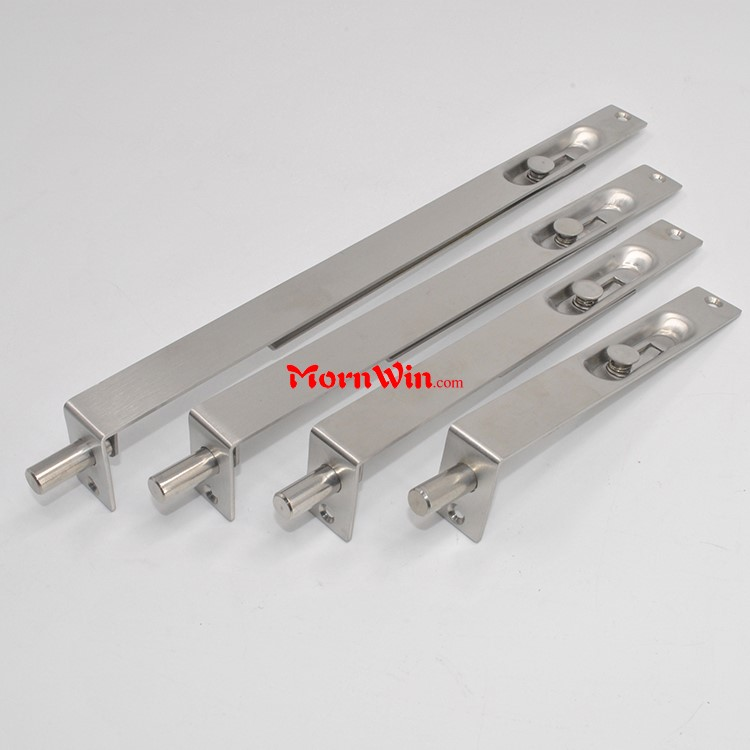 Top quality china factory price stainless steel concealed spring safety house sliding door locking flush bolt