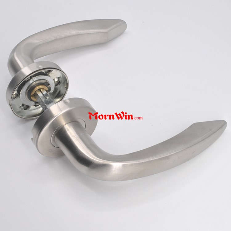 stainless steel curved shape tube lever fancy door handles