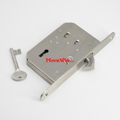 stainless steel sliding door mortise hook lock with keys